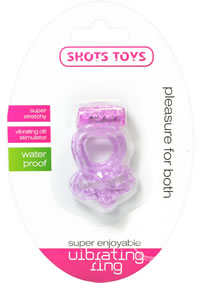 Shots Super Vibrating Ring Purple